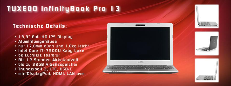 TUXEDO Startseite Teaser InfinityBook Pro 13