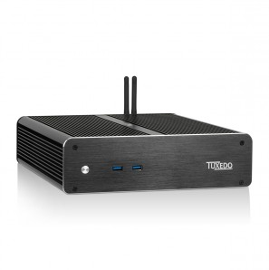 TUXEDO InfinitySilent - passiver Kleinst-PC - Quad-Core-Energiespar-CPUs bis Intel Core i7 + VESA-Halterung + bis 2 HDD/SSD + bis 32GB DDR4 RAM