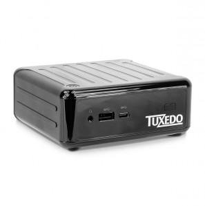 TUXEDO Nano - Kleinst-PC - Quad-Core Energiespar-CPU + VESA-Halterung + bis zu 2 HDD/SSD + Fernbedienung
