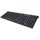 Slimline Tastatur - ultraflach + geräuscharm + USB + kabelgebunden + schwarz